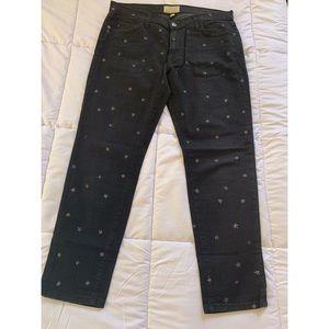 Current Elliott star print boyfriend jeans size 28